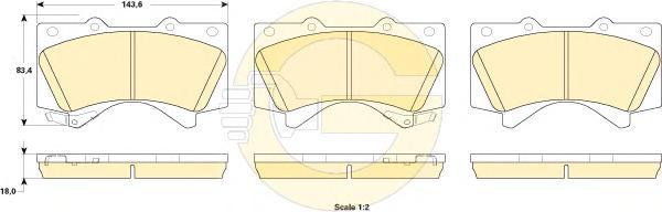 6135249 Колодки тормозные TOYOTA LAND CRUISER J200 4.5D/4.7 07-/LEXUS LX570 08- передние