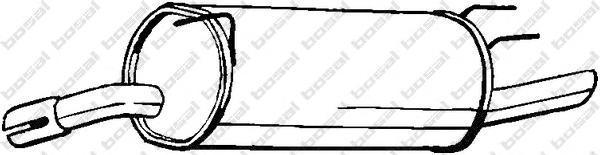 185353 Глушитель OPEL OMEGA B 2.0 94-99(ST-WAGON)