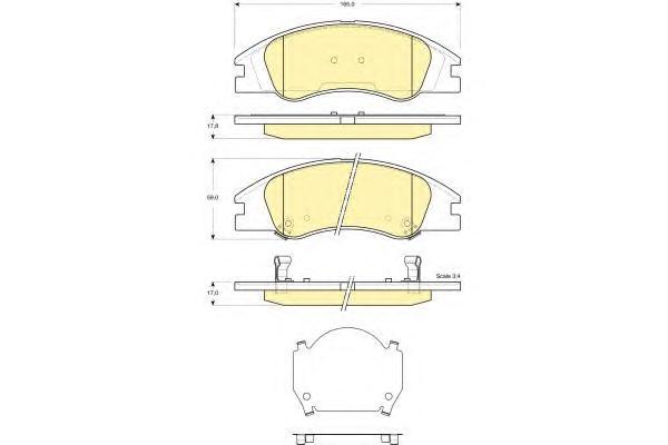 6133679 Колодки тормозные KIA CERATO 04- передние