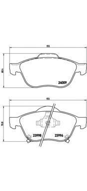 P83043 К-т торм. колодок Fr TO Avensis (T22) 01-03, Verso
