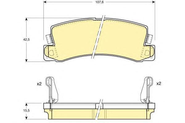 6111689 Колодки тормозные TOYOTA AVENSIS/CAMRY/CARINA/CELICA/COROLLA 86-03 задние