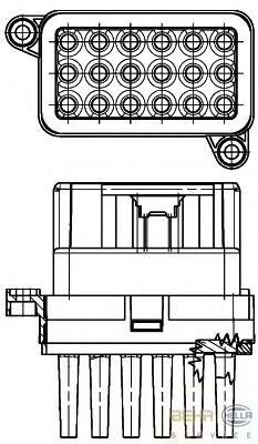 5HL351332341 Блок управл.отопит. FORD FOCUS II/MONDEO