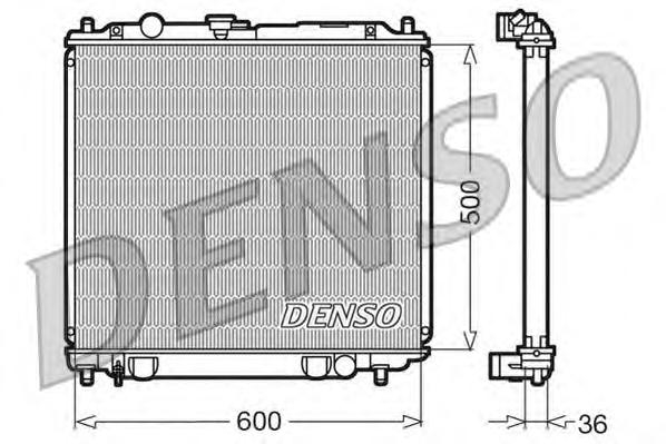 DRM45014 Радиатор системы охлаждения MITSUBISHI: PAJERO II (V2W, V4W) 2.8 TD (V46W) 90 - 00