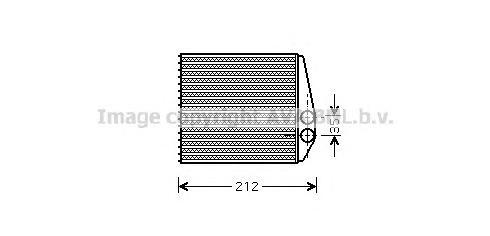 OLA6354 Радиатор отопителя OPEL: CORSA C (F08, F68) 1.0/1.2/1.2 TWINPORT/1.3 CDTI/1.4/1.4 TWINPORT/1.6/1.7 CDTI/1.7 DI/1.7 DTI/1
