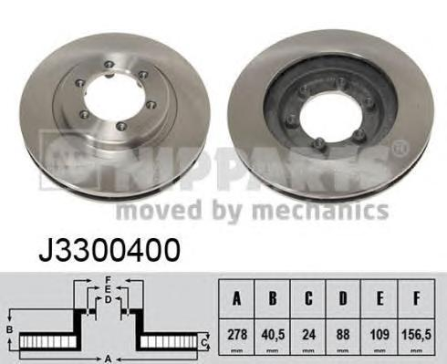J3300400 Диск тормозной SSANGYONG KORANDO 96-/MUSSO 96-/REXTON 2.9D 02- передний