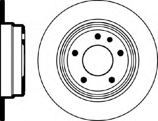 24011001171 Диск тормозной задн, BMW: 5 518 i/520 i/520 i 24V/524 td/525 i/525 i 24V/525 td/525 tds/530 i/530 i V8/535 i/M 3.6/M