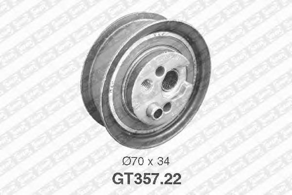 GT35722 Деталь GT357.22_pолик натяжной pемня ГPМ