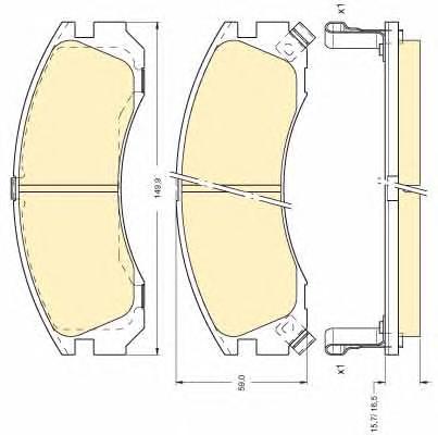 6111269 Колодки тормозные MITSUBISHI OUTLANDER 03/PAJERO 9000/00 передние