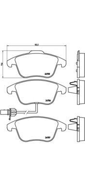 P85113 Колодки тормозные AUDI A4/A4 ALLROAD/A5 1.8-3.2 07- передние с датч.