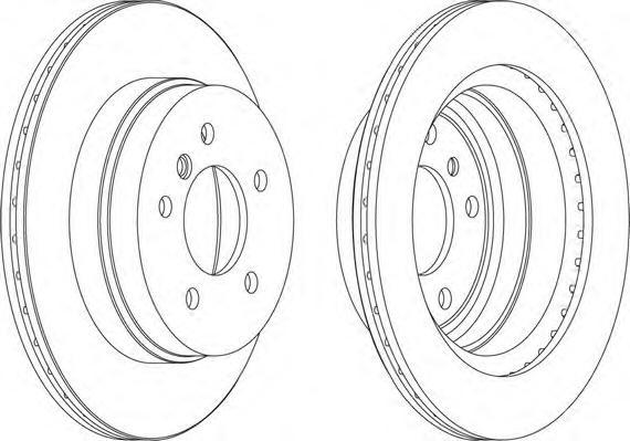 DDF1697 Диск тормозной BMW E81/E87/E90/E91/E84 X1 задний вент.D=300мм.