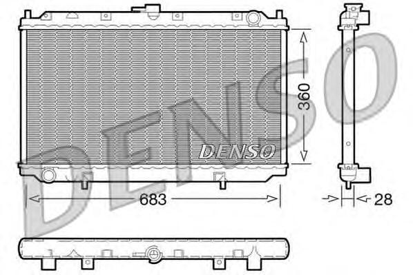 DRM46010 Радиатор системы охлаждения NISSAN: PRIMERA (P11) 1.6 16V/2.0/2.0 16V/2.0 TD 96 - 01 , PRIMERA (P12) 1.6/2.0 02 - , PRI