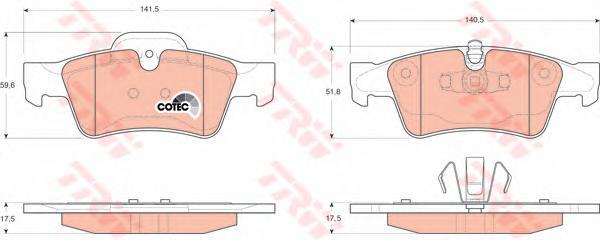 GDB1643 Колодки тормозные MERCEDES-BENZ W164 ML 05/W251 R-CLASS 06 задние