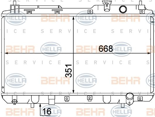 8MK376768281 Радиатор HONDA CR-V 2.0 M/T 95-03