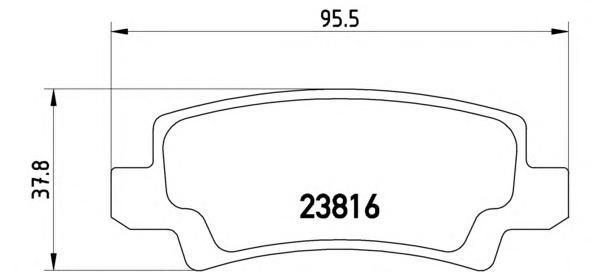 P83065 Колодки тормозные TOYOTA COROLLA (E12) 0206 с датчиком задние