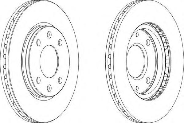 DDF214 Диск тормозной CITROEN SAXO/XSARA/ZX/PEUGEOT 106/206/306 передний вент.