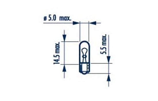 17040 Лампа накаливания для грузовых автомобилей 10шт в упаковке W1,2W 24V 1,2W W2X4,6d