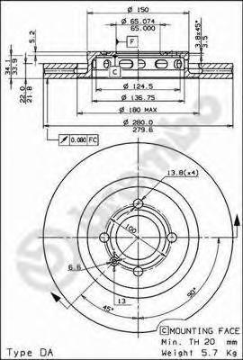 09672810 Тормозной диск