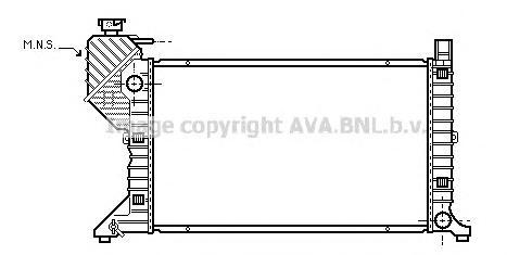 MSA2183 Радиатор системы охлаждения MERCEDES-BENZ: SPRINTER 2-t c бортовой платформой/ходовая часть (901, 902) 208 D/210 D/212 D