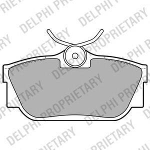 LP2019 Колодки тормозные VOLKSWAGEN T4 R15 96-/SHARAN 00-/GALAXY 00-06 задние без датч.