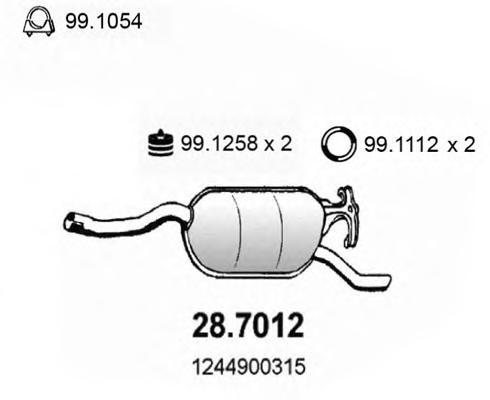 287012 Глушитель выхлопных газов конечный