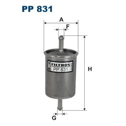 PP831 Фильтр топливный OPEL/ISUZU/CITROEN