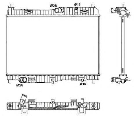 53043 Радиатор FO Fiesta 1.4 08-
