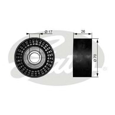T38018 Ролик ремня приводного CHRYSLER/JEEP/MAZDA 2.0/4.2/5.7/6.1