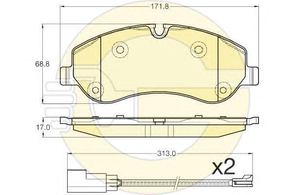 6119671 Колодки тормозные FORD TRANSIT 14-/CUSTOM 12- передние