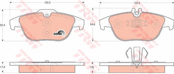 GDB1738 Колодки тормозные MERCEDES W204/X204 07- задние