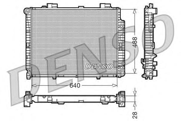 DRM17101 Радиатор системы охлаждения MERCEDES-BENZ: E-CLASS (W210) E 200 CDI (210.007)/E 200 Kompressor (210.045)/E 220 CDI (210