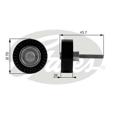 T38054 Ролик ремня приводного VAG 1.4/1.6 05-