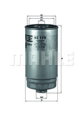 KC179 Фильтр топливный KIA SORENTO 2.5 CRDI