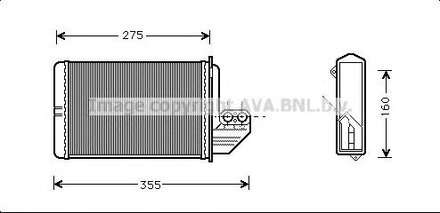 BWA6172 Радиатор отопителя BMW E36 1.6-3.2 90-99