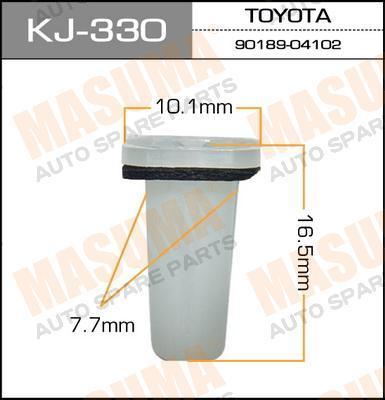 kj330 Клипса (пластиковая крепежная деталь)