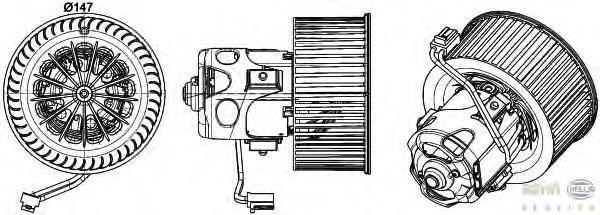 8EW351043271 Мотор отопителя BMW F01/F07/F10 08-