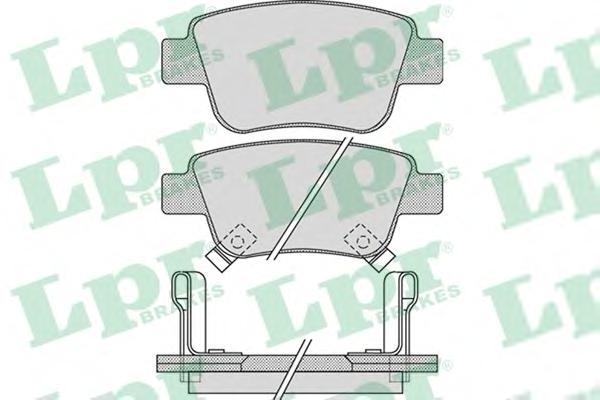 05P1113 Колодки тормозные дисковые задн TOYOTA: AVENSIS 03-, AVENSIS седан 03-, AVENSIS универсал 03-, COROLLA Verso 04-
