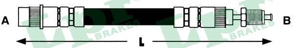 6T46559 Шланг тормоз пер PEUGEOT 806/EXPERT 95- 510мм передний