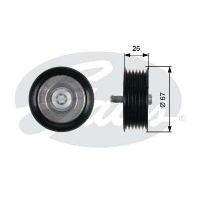T36438 Ролик п/к ремня MB C(W204) 07-, E(W212) 09-