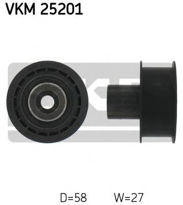 VKM25201 Ролик промежуточный ремня ГРМ Opel Ascona 1.6D 82-88,Astra 1.7D 91-92,Kadett 1.6/1.7D 84-94,Vectra 1.7D 88-92