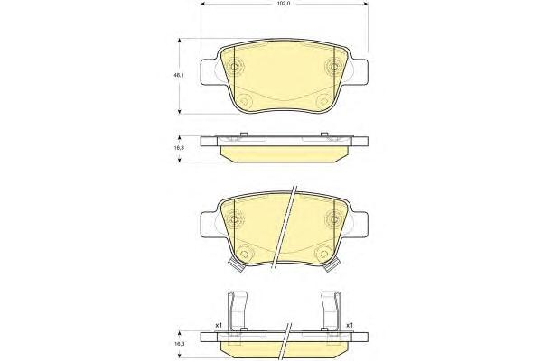 6133374 Колодки тормозные TOYOTA AVENSIS 03/COROLLA VERSO 04 задние