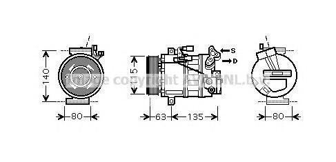 dnk336 Компрессор, кондиционер