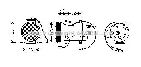 AIAK179 Компрессор кондиционера AUDI A6/A8 2.3-2.8/2.5TD 94-98