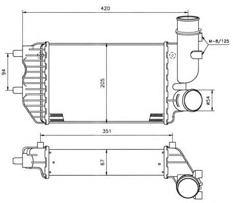 30066A Интеркулер PSA Boxer, FI Ducato