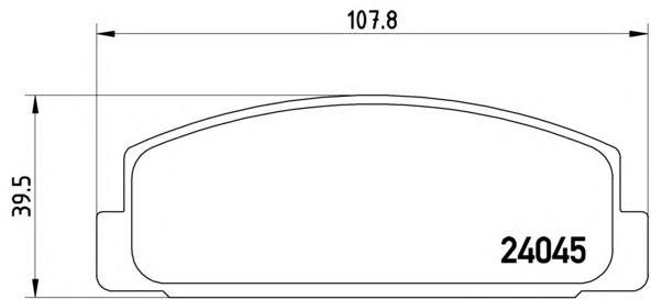 P49036 Колодки тормозные MAZDA RX 7 92/MAZDA 323 1.8 T/626 9194 задние