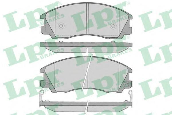 05P1291 Колодки тормозные HYUNDAI TERRACAN 01-03 передние