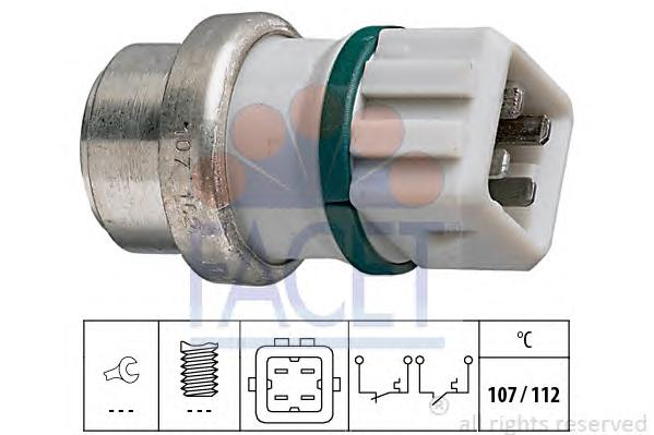 74104 Датчик температуры охлаждающей жидкости FORD: GALAXY (WGR) 1.9 TDI 95-  SEAT: ALHAMBRA (7V8, 7V9) 1.9 TDI/2.0 i 96-, TOLED