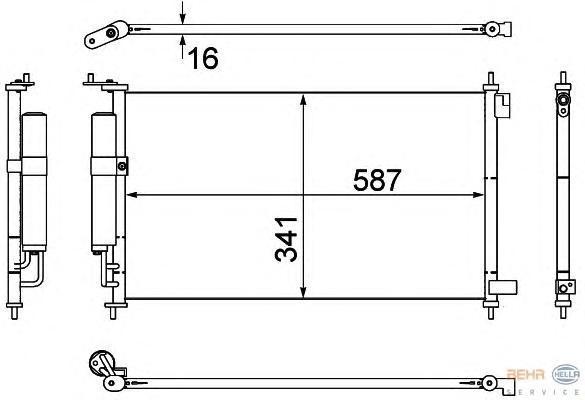 8FC351307791 Радиатор кондиционера NISSAN: TIIDA Наклонная задняя часть 1.6/1.6 4x4/1.8/1.8 4x4 04 - 07 , TIIDA Наклонная задняя