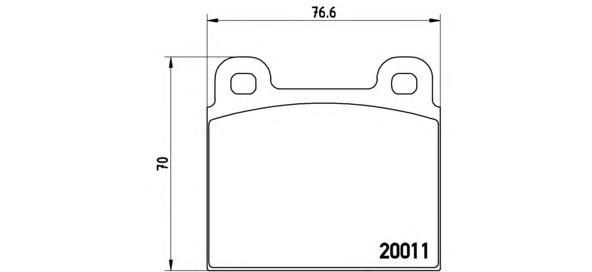 P23001 Колодки тормозные MERCEDES W114/115/108/VOLKSWAGEN T2 66-79 передние