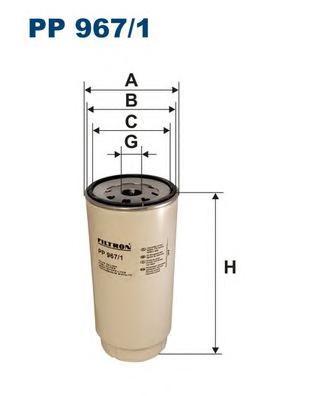 PP9671 Фильтр топливный DAF TRUCKS