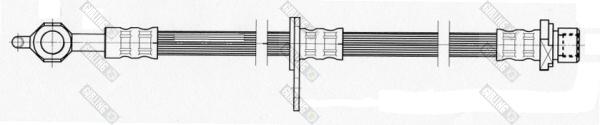 9004460 Шланг тормозной TOYOTA AVENSIS 99- передний правый